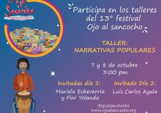 Taller: narrativas populares – 13° Festival Ojo Al Sancocho